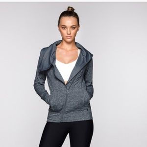Lorna Jane marl Christie excell zip through jacket